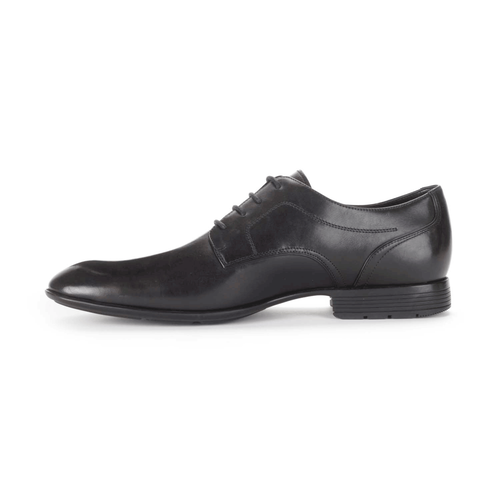 Dialed In Plain Toe Men's Dress Shoes in Black